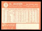1964 Topps #494  Al Jackson  Back Thumbnail