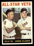 1964 Topps #81   -  Harmon Killebrew / Nellie Fox All-Star Vets Front Thumbnail