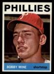 1964 Topps #347  Bobby Wine  Front Thumbnail