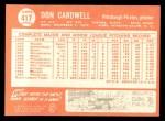 1964 Topps #417  Don Cardwell  Back Thumbnail