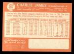 1964 Topps #357  Charlie James  Back Thumbnail