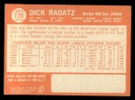 1964 Topps #170  Dick Radatz  Back Thumbnail