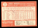 1964 Topps #272  Jake Wood  Back Thumbnail