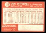 1964 Topps #120  Don Drysdale  Back Thumbnail