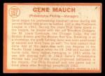 1964 Topps #157  Gene Mauch  Back Thumbnail