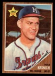 1962 Topps #289  Mike Krsnich  Front Thumbnail