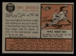 1962 Topps #534  Tony Gonzalez  Back Thumbnail