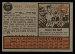 1962 Topps #407  Hank Aguirre  Back Thumbnail