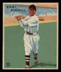 1933 Goudey #194  Earl Averill  Front Thumbnail