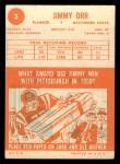 1963 Topps #3  Jimmy Orr  Back Thumbnail