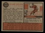1962 Topps #185 NRM Roland Sheldon  Back Thumbnail