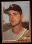 1962 Topps #8  Ray Herbert  Front Thumbnail