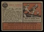 1962 Topps #178 GRN Camilo Carreon  Back Thumbnail