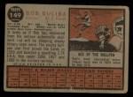 1962 Topps #149 NRM Bob Duliba  Back Thumbnail