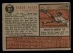 1962 Topps #284  Ruben Amaro  Back Thumbnail