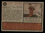 1962 Topps #83  Larry Jackson  Back Thumbnail