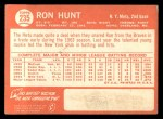 1964 Topps #235  Ron Hunt  Back Thumbnail