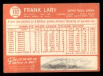 1964 Topps #197  Frank Lary  Back Thumbnail