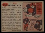 1957 Topps #130  Bill Wightkin  Back Thumbnail
