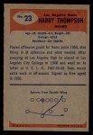 1955 Bowman #23  Harry Thompson  Back Thumbnail