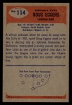 1955 Bowman #114  Doug Eggers  Back Thumbnail