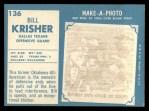 1961 Topps #136  Bill Krisher  Back Thumbnail