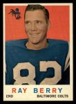 1959 Topps #55  Raymond Berry  Front Thumbnail