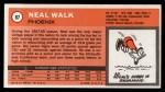 1970 Topps #87  Neal Walk   Back Thumbnail