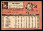1969 Topps #106  Jim Hannan  Back Thumbnail