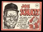 1969 Topps #254  Joe Schultz  Back Thumbnail