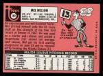 1969 Topps #181  Mel Nelson  Back Thumbnail