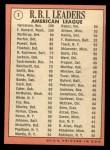 1969 Topps #3   -  Ken Harrelson / Frank Howard / Jim Northrup AL RBI Leaders   Back Thumbnail