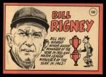 1969 Topps #182  Bill Rigney  Back Thumbnail