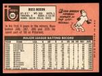 1969 Topps #363  Russ Nixon  Back Thumbnail