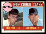 1969 Topps #376   -  Mike Fiore / Jim Rooker Royals Rookies Front Thumbnail