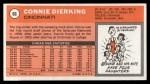 1970 Topps #66  Connie Dierking   Back Thumbnail