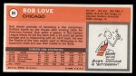 1970 Topps #84  Bob Love  Back Thumbnail