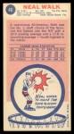 1969 Topps #46  Neal Walk  Back Thumbnail