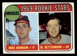 1969 Topps #66   -  Merv Rettenmund / Mike Adamson Orioles Rookies Front Thumbnail