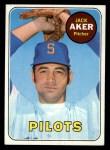 1969 Topps #612  Jack Aker  Front Thumbnail