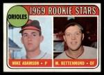 1969 Topps #66   -  Mike Adamson / Merv Rettenmund Orioles Rookies Front Thumbnail