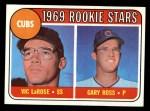 1969 Topps #404   -  Vic LaRose / Gary Ross Cubs Rookies Front Thumbnail