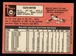 1969 Topps #489  Clete Boyer  Back Thumbnail