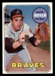 1969 Topps #489  Clete Boyer  Front Thumbnail