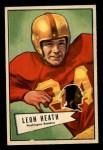 1952 Bowman Small #91  Leon Heath    Front Thumbnail