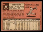 1969 Topps #52  Mike Andrews  Back Thumbnail