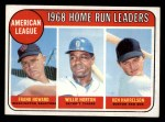 1969 Topps #5   -  Frank Howard / Willie Horton / Ken Harrelson AL HR Leaders   Front Thumbnail