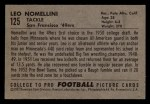 1952 Bowman Small #125  Leo Nomellini  Back Thumbnail