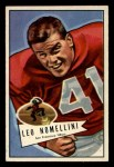 1952 Bowman Small #125  Leo Nomellini  Front Thumbnail