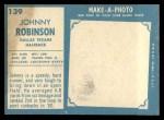 1961 Topps #139  Johnny Robinson  Back Thumbnail